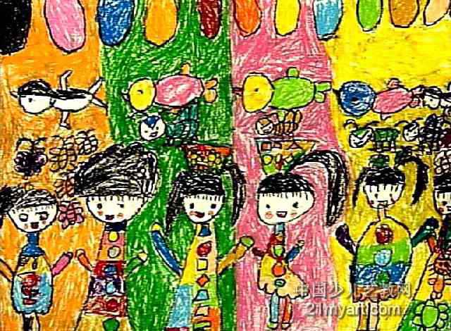 奇妙的房子儿童画4幅(第3张)
