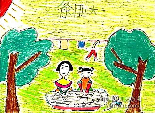 我帮妈妈洗衣服儿童画3幅(第2张)图片