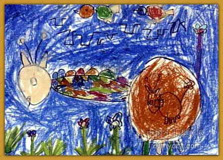 长颈鹿儿童画(一)7幅(第6张)