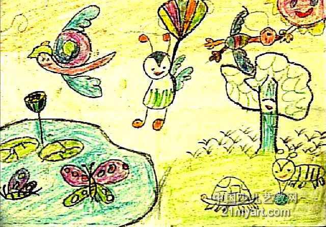 动物乐园儿童画3幅第2张图片