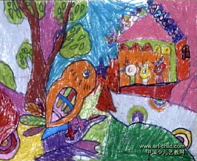 小鸟的一家儿童画,此幅油画棒画大小为523x640像素,作者刘可欣,来自南阳油田水电厂幼儿园,女,4岁。 上一页 [1] [2] [3]
