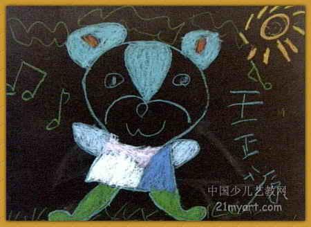 可爱的小熊儿童画5幅