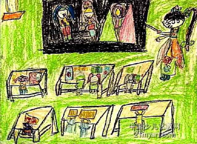 我给山村伙伴上课儿童画作品欣赏