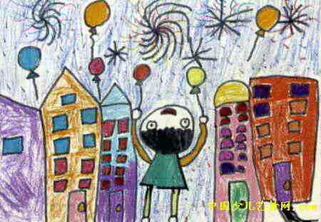 过年了儿童画9幅 第3张