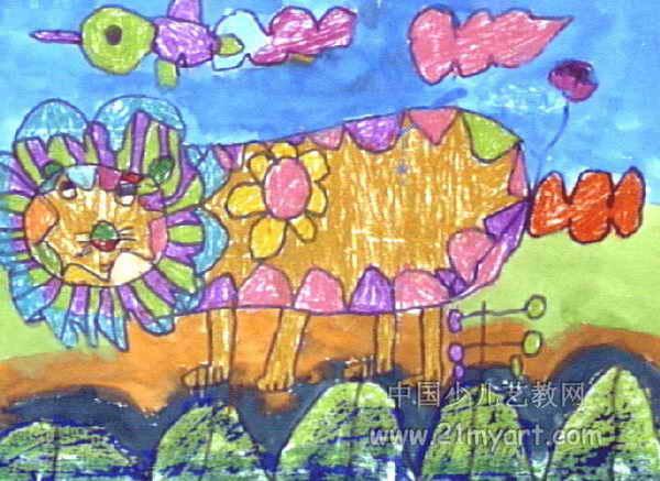 狮子公主儿童画