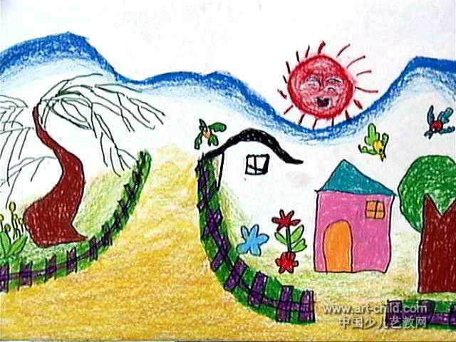 描写春天儿童画作品欣赏