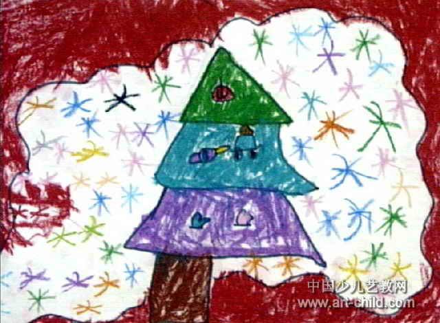 庆新年儿童画图片