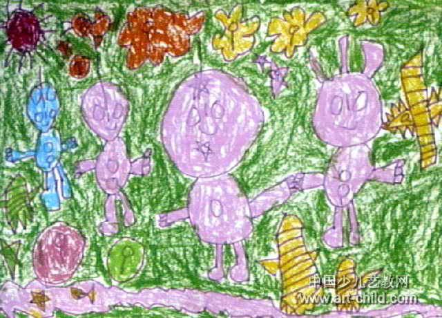 奥特曼家族儿童画作品欣赏