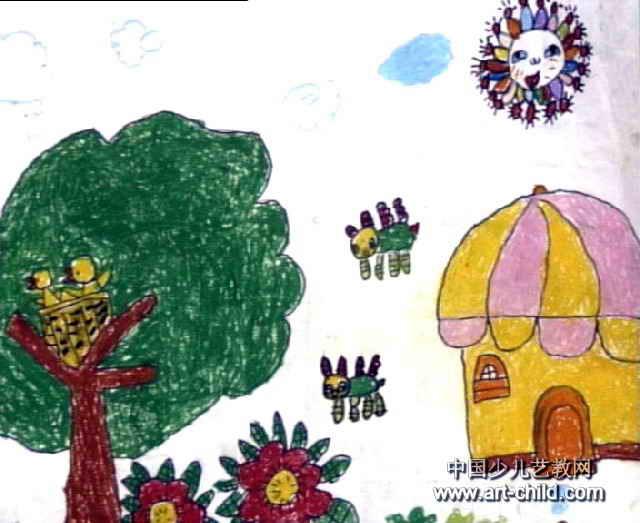 幼儿园风景油画棒简笔画大全