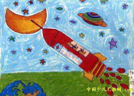 我的梦想儿童画(一)5幅