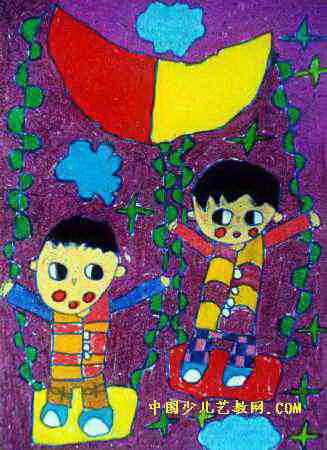 游戏儿童画8幅(第2张)