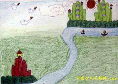 我的家鄉兒童畫15幅(第10張)