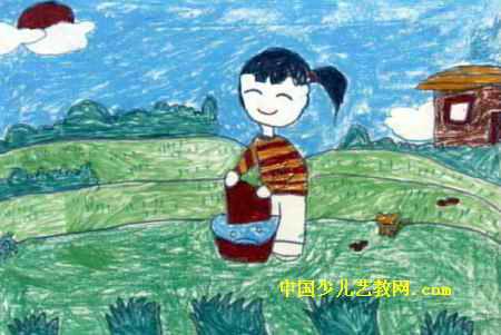 自己的事情自己做儿童画5幅