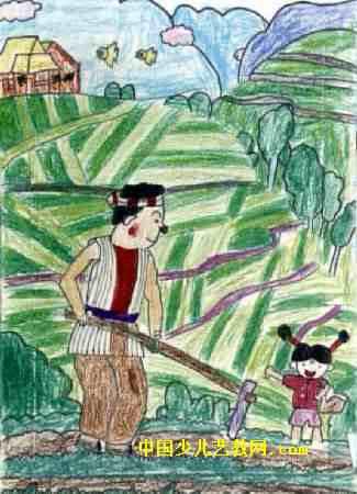 爸爸的画儿童画属于油画棒画