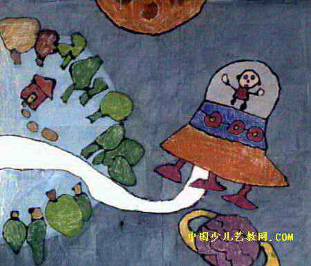 我找宇宙小朋友儿童画
