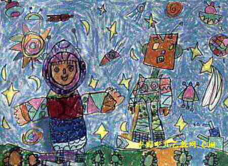太空世界儿童画11幅 第6张图片