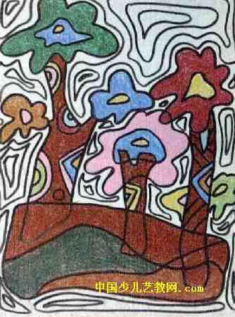 看不到的风景儿童画属于油画棒画