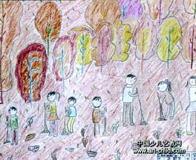 儿童画属于油画棒画,长523px,宽640px,作者谢韩婷,女,9岁,来自海南