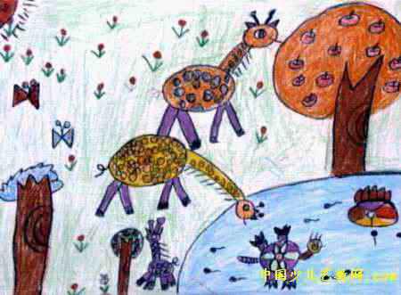 长颈鹿儿童画(一)7幅