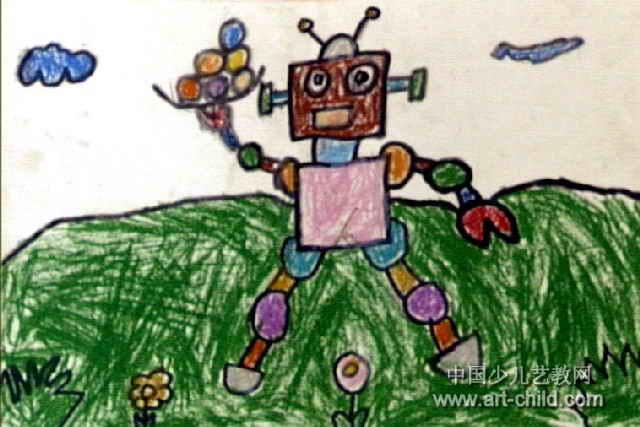 机器人儿童画15幅 第7张