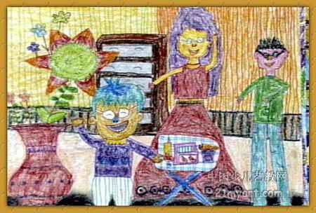 我的家幼儿主题画 幼儿新年主题画 幼儿冬天的主题画