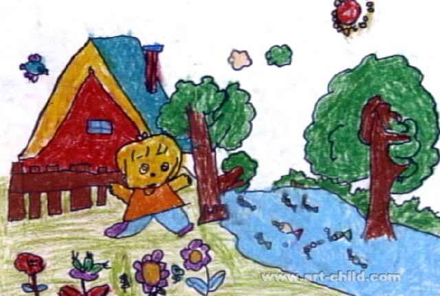 我美丽的家园儿童画