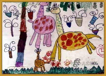 快乐的一家儿童画 三 8幅 第2张