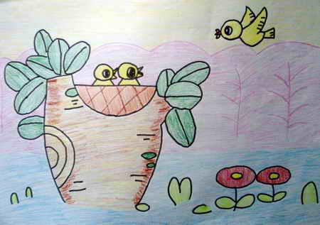 哺育儿童画