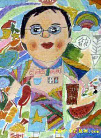 美术老师油画棒儿童画