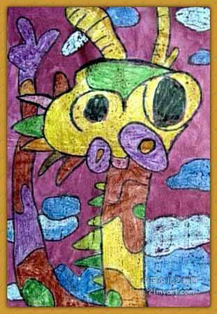 """""""龙""""儿童画4幅(第2张)"""