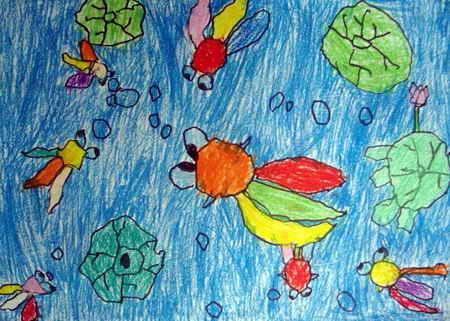 水中游戏儿童画