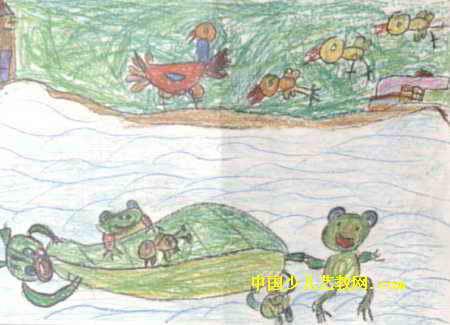 儿童画 叶庆炫/求小鸡儿童画,此幅油画棒画尺寸为325x450像素,作者叶庆炫,...
