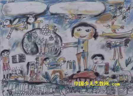 快乐世界儿童画2幅