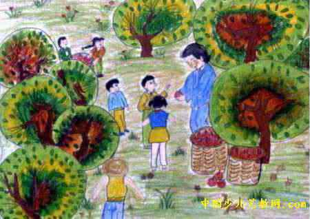 秋收儿童画4幅(第2张)