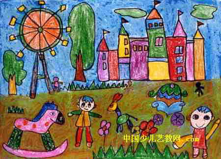 游乐场儿童画5幅图片