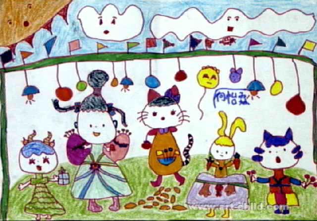 动物演唱会儿童画
