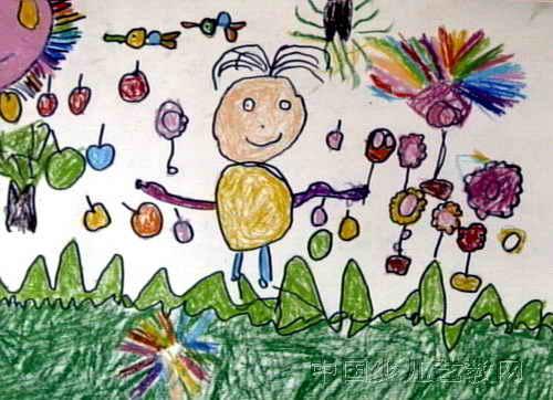儿童画 美丽 毛楚涵/美丽的春天儿童画属于油画棒画,大小为362x500像素,作者毛...