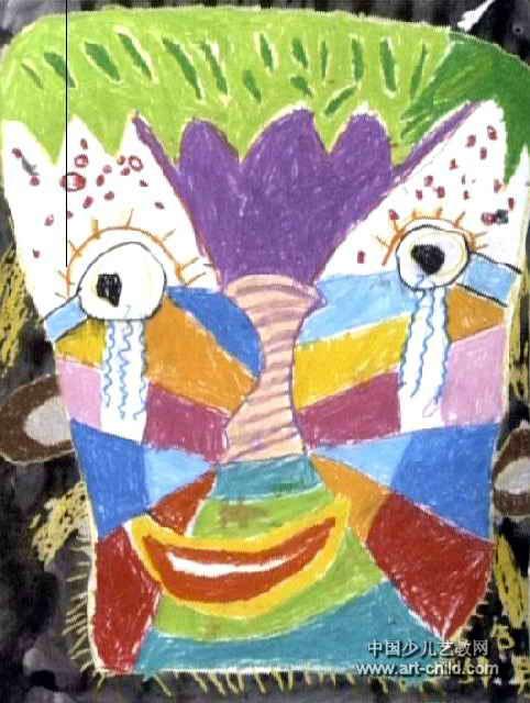 树妈妈的脸儿童画图片