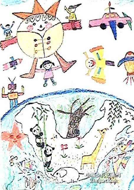 世级畅想儿童画作品欣赏