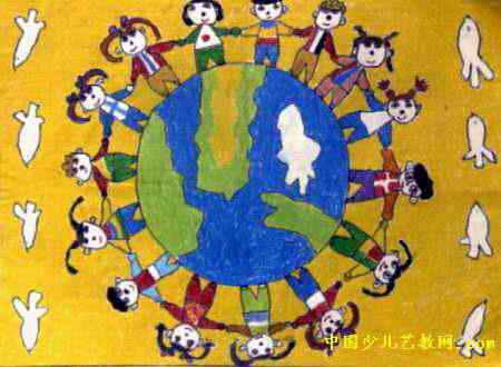 我们拥有一个和平家园儿童画