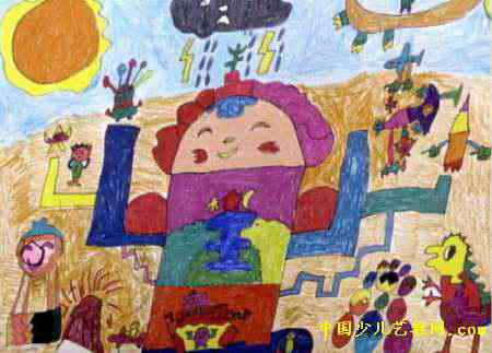 游戏王国儿童画属于油画棒画