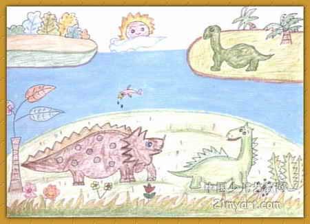 恐龙世界儿童画 一 8幅 第7张