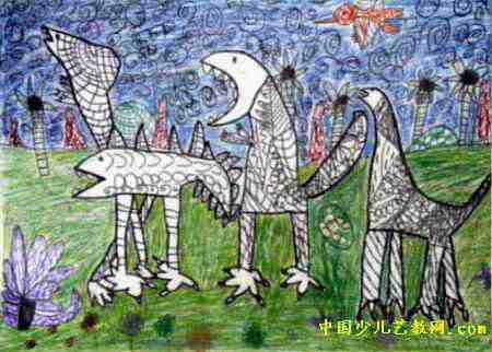 恐龙世界儿童画(一)8幅(第3张)