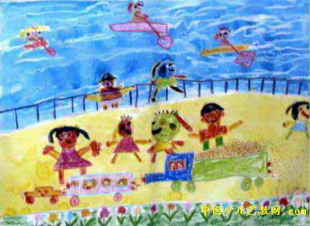 快乐的一天儿童画10幅 第7张