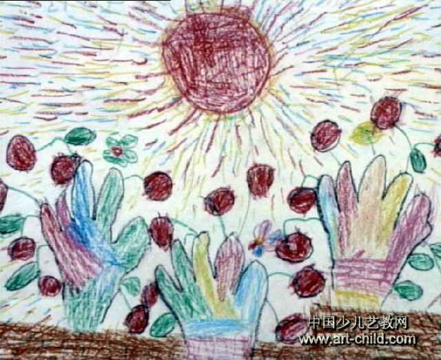 苹果成熟了儿童画,此幅水彩画大小为523x640像素,作者梁瑞珊,来自四川