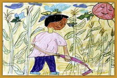 种玉米儿童画