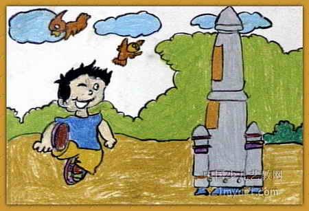 我的神舟八号儿童画