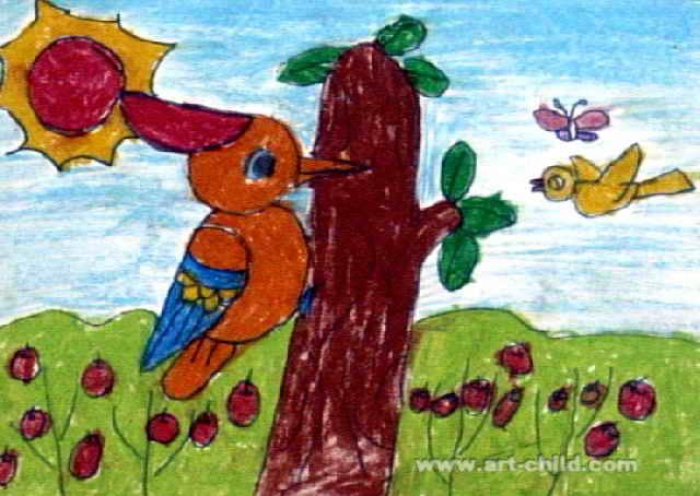 森林医生儿童画6幅(第3张)图片