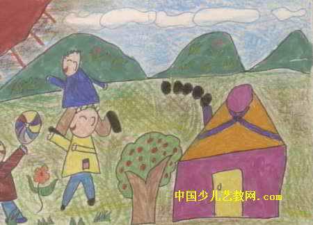 踢足球儿童画13幅(第5张)