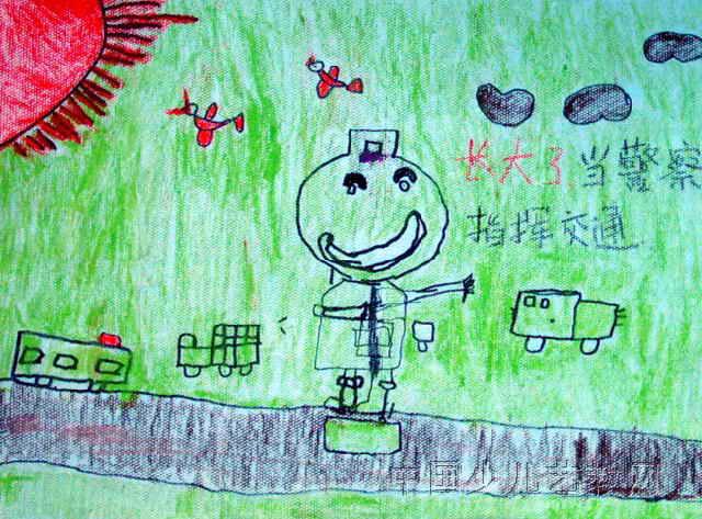 长大的我儿童画属于油画棒画,作品长473px,宽640px,作者乔浩然,男,5岁,就读包头市蒙古族幼儿园.